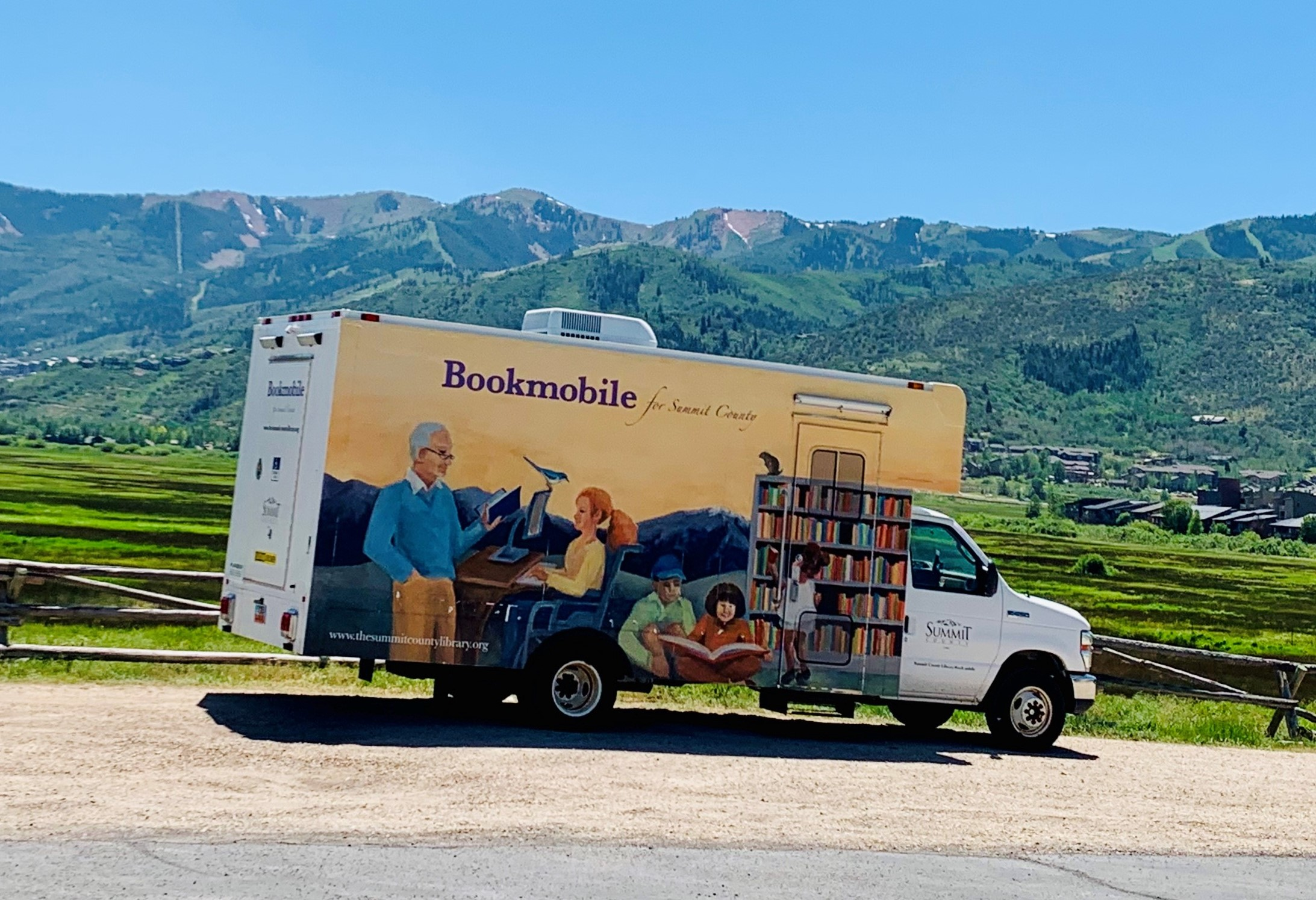 Bookmobile at North Summit Middle School