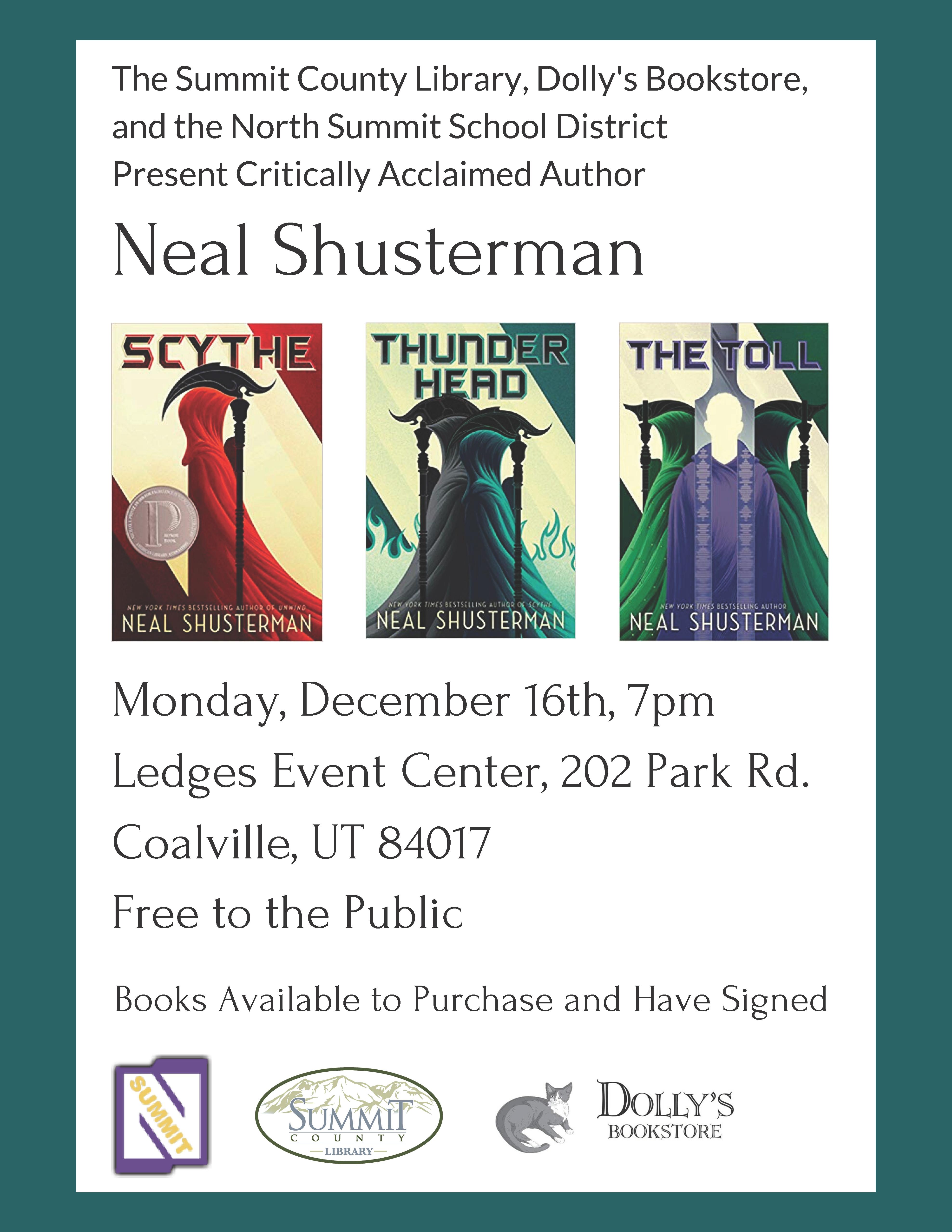 Neal Shusterman Event
