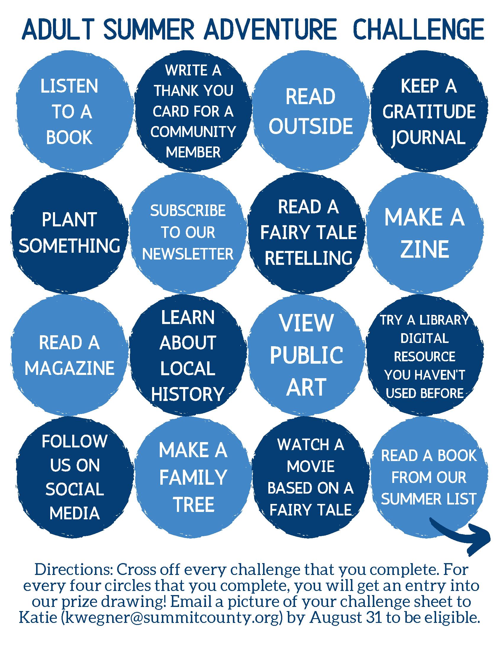 Adult Summer Reading Challenge