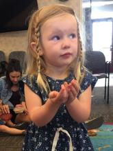 Singing along at Busy Bee Toddler Time